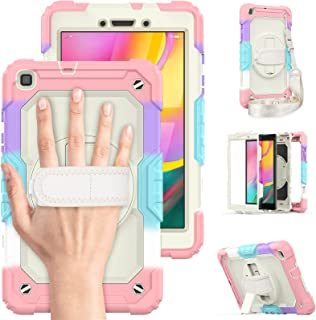 """Timecity Case for Samsung Galaxy Tab A 8.0"""" 2019 (SM-T290/T295/T297) with Screen Protector, 360° Rotatable Stand, Hand Str..."""