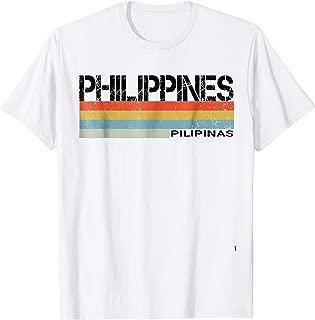 Philippines- Pilipinas Language Retro Style T Shirt