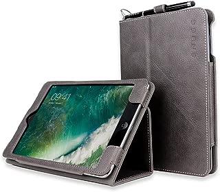 Snugg iPad Mini 1 and Mini 2 Case, Shark Skin Grey Leather Smart Case Cover Apple iPad Mini 1 and Mini 2 Protective Flip Stand Cover with Auto Wake/Sleep