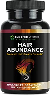 Trio Nutrition Biotin 10,000mcg - Hair Growth Vitamins for Stronger and Healthier Hair, Skin and Nails Boosted with Essent...