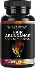 Biotin 10,000 mcg - Hair Vitamins for Hair Growth | Hair Abundance is a hair treatment supplement pill boosted with Marine Collagen, Keratin, Bamboo - Thicker Eyelashes For All Hair Types Women & Men*
