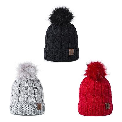4ecee099595 REDESS Baby Kids Winter Warm Fleece Lined Hats