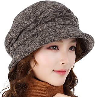78585f71211 Chuiqingnet Elegant Autumn and Winter Women s Hats European and American  Fashion Warm Casual Curling Big Head
