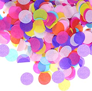 15000pcs Colorful Table Confetti 1 inch Premium Round Tissue Paper Bulk for Balloon, Wedding, Bridal Shower, Baby Shower, ...
