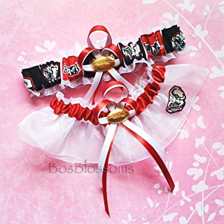 college wedding garter