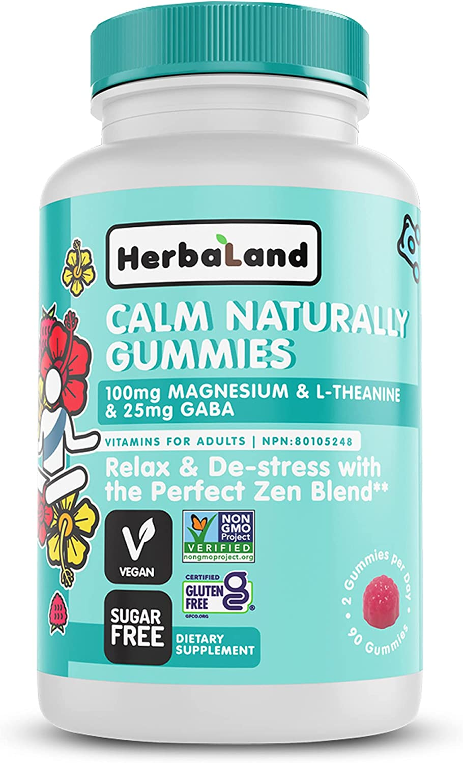 Herbaland - Calm Naturally Large special price Gummies Vitamins Calming Adults for Award