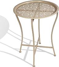 DAR Living Daisy Tray Side Table, Stone