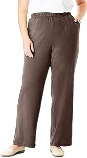 Women's Plus Size 7-Day Knit Wide Leg Pant