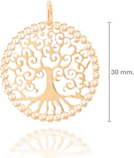 Colgante Árbol de la Vida en Plata de Ley y Chapado en Oro de 24 Quilates
