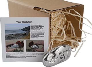 Pirantin I Love You, You are My Rock Idea - Solid Metal Heavy Polished Rock Gift for Him Or Her