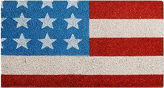 "Rubber-Cal 10-102-028"" Stars and Stripes-Patriotic Coir Doormat, 18"" x 30"", Blue"