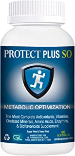 Protect Plus SO Metabolic Optimization Supplement For Men & Women (60 softgels) Sugar & Yeast Free - The Most Complete Antioxidants, Vitamins, Chelated Minerals, Amino Acids, Enzymes & Bioflavonoids S