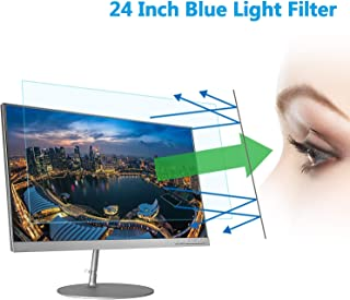 """24"""" Computer Anti Blue Light Screen Protector, Eye Protection Reduce Eye Fatigue and Eye Strain for 24 inches Widescreen Desktop Monitor"""