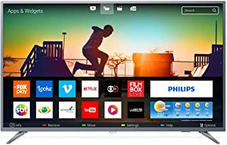 Smart TV Ultra Slim 4K UHD LED, Philips 55PUG6513/78, Prata