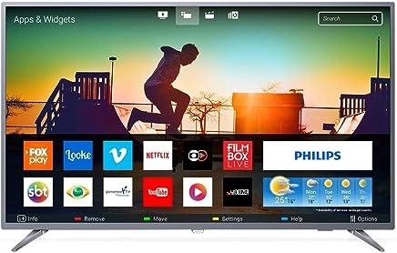 Smart TV Ultra Slim 4K UHD LED, Philips 55PUG6513/78, Prata