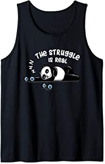 The Struggle Is Real Funny Panda Bear Gym Lover  Tank Top