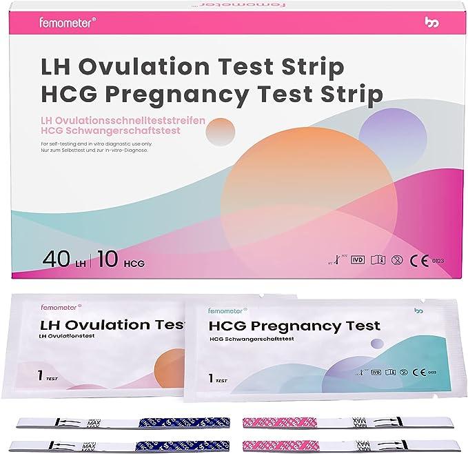 755 opinioni per Femometer 40 x test di ovulazione + 10 test di gravidanza, Monitoraggio
