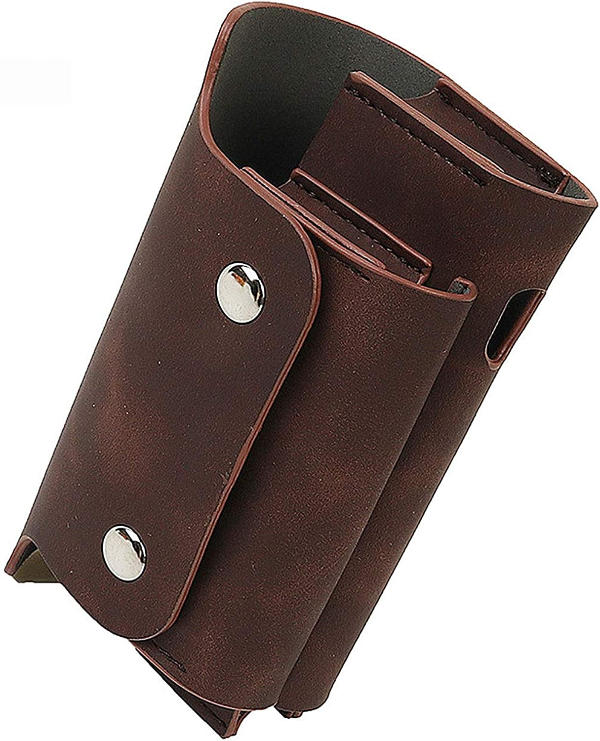 IQOS Pouch Bag,IQOS 3.0 Cigar Cover,Pressure Change Leather Waist Leather Cigarette Case with Clip Or Buckle(Case Only),Darkbrown