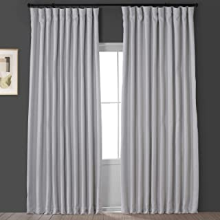 HPD Half Price Drapes BOCH-LN1855-84-DW Faux Linen Extra Wide Blackout Room Darkening Curtain (1 Panel), 100 X 84, Oyster
