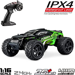Hosim 1:16 Scale 4WD 36km/h High Speed RC Truck G172 Remote Control RC Car, 2.4Ghz Radio Controlled Off-Road Vehicle Electric RC Monster Truck RTR Hobby RC Car Buggy for Kids Adults (Green)
