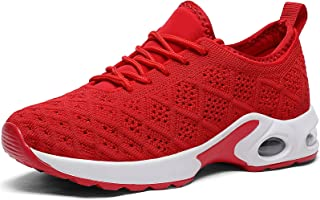 CASMAG Women's Color Sneakers Outdoor Breathable Athletic Running Shoes Red 10 M US