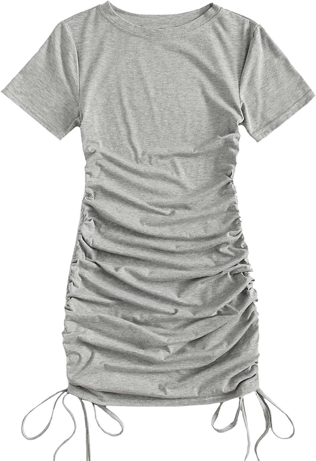 Floerns Surprise price Women's Casual Shortsleeve Side OFFicial site Ruched Bodyco Drawstring