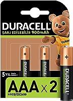 Duracell Şarj Edilebilir AAA 900mAh Piller, 2'li paket