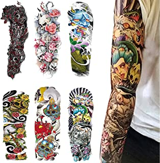 Tatuaje Temporal De Brazo Completo - (6 Fotos) Para Tatuaje De Brazo De Arte Corporal Niño Y Niña (1)