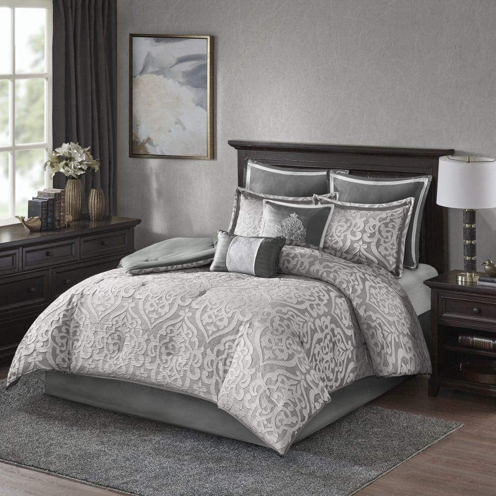 8 Piece Very popular Ranking TOP15 Gorgeous Jacquard Comforter Dam King Cal Size Beautiful