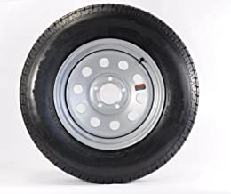 2-Pack Mounted Trailer Tire and Rim ST185/80R13D 13X4.5 5-4.5 Silver Modular