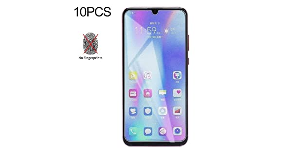 DESHENG Clear Screen Protector 50 PCS Non-Full Matte Frosted Tempered Glass Film for Huawei Honor 10 Lite No Retail Package Glass Film