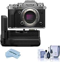 $1828 » Fujifilm X-T4 Mirrorless Digital Camera Body, Silver Vertical Battery Grip, Cleaning Kit, Microfiber Cloth