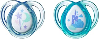 Tommee Tippee Closer to Natire Everyday Pacifier, BPA-Free, Bottle Shapped Nipple,0-6 Months, Boy, 2 Count(Colors May Vary)