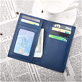 RFID Anti-Magnetic Anti-Theft Card Package Men's Ultra-Thin Simple Small Card Holder Multi-Function Card Holder (Color : Blue, Size : S)