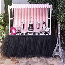 Hoxekle Tutu Tulle Table Skirt for Princess Party Table Wedding Decor Tableware Lace Tablecloth for Parties Baby Shower