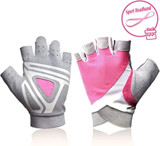 Gym Workout Gloves Half-Finger Women - Ideal Indoor Outdoor Rowing,  Sculling,  Kayak,  SUP,  Outrigger Canoe,  Dragon Boat Other Watersports