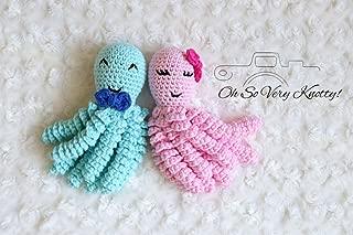 "Sweet NICU Preemie Octopus Handmade Newborn & Preemie-Buddy, comfort octopus, Baby Octopus 7"" Blue and Pink"
