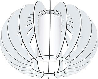 EGLO Lámpara de techo Stellato 2, 1 luz de techo vintage, lámpara de salón, de acero, madera y cristal en blanco, lámpara de cocina, lámpara de pasillo con casquillo E27