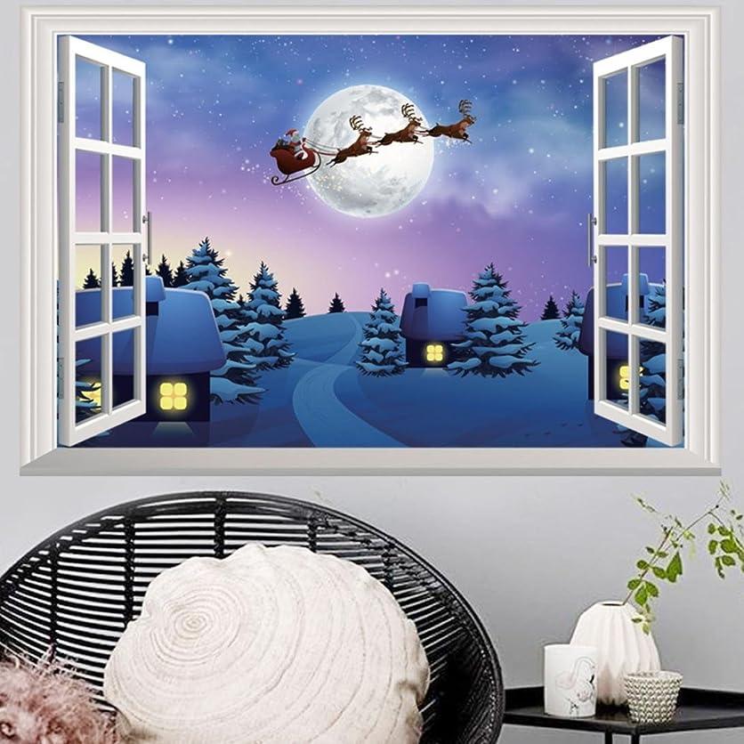 領域広がりピックレンコス(Lemcos) ウォールステッカー  クリスマス 飾り 3D 壁紙  シール リムーバブル インテリア 窓?ドア?壁 はがせる 北欧風 おしゃれ 部屋飾り リビングルーム?キッチン?オフィス?店