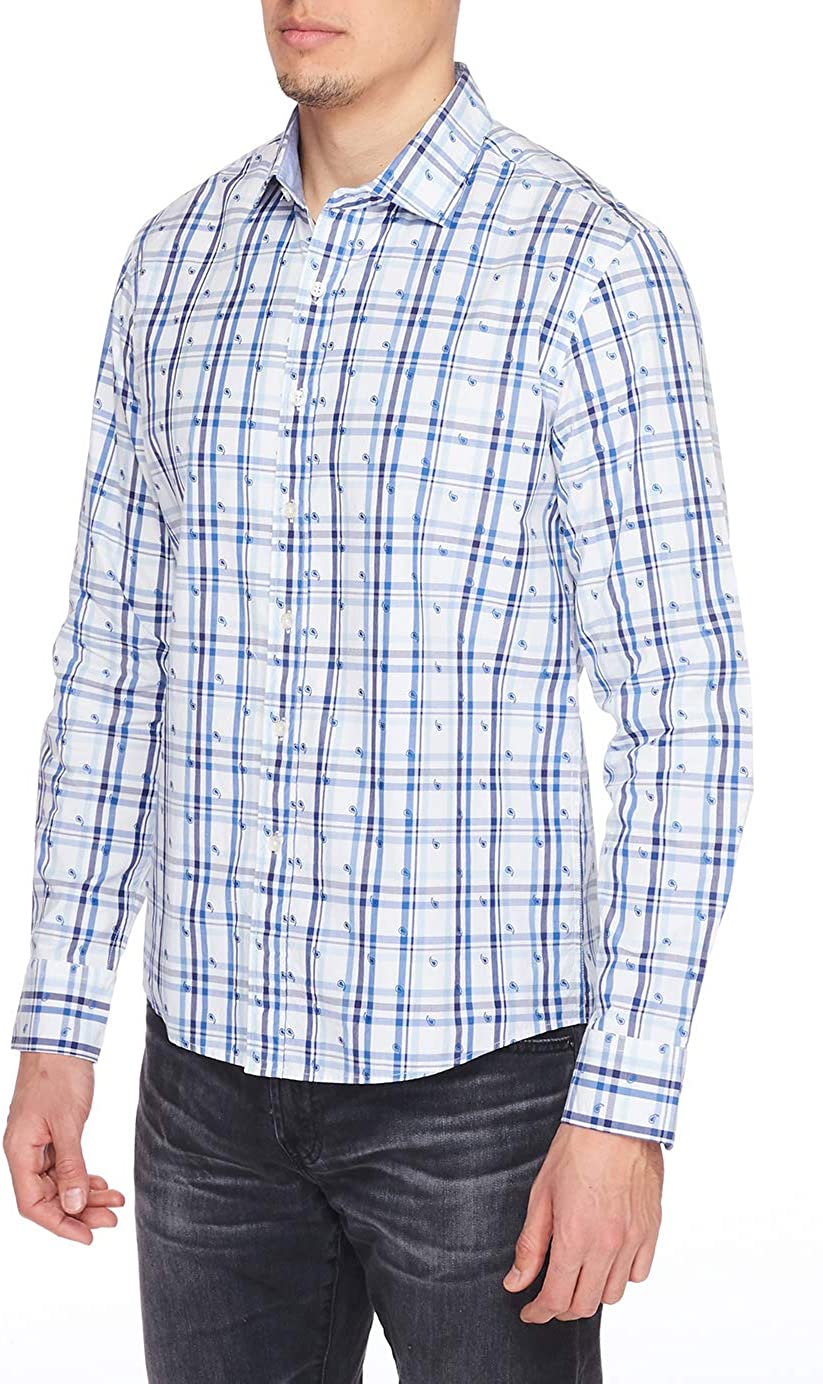 House of Lords Slim FIT Men's Casual Button Down Dress Shirt