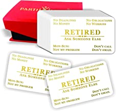 Retired Out of Business Cards (Pack of 50) Premium Gold Foil Stamping 2