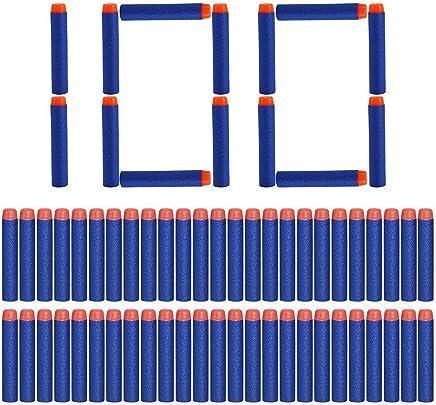 Yosoo Ricarica 100 Dardi Morbide Freccette Schiuma Proiettile per i Giocatori Bambini di Nerf N-Strike Serie Elite