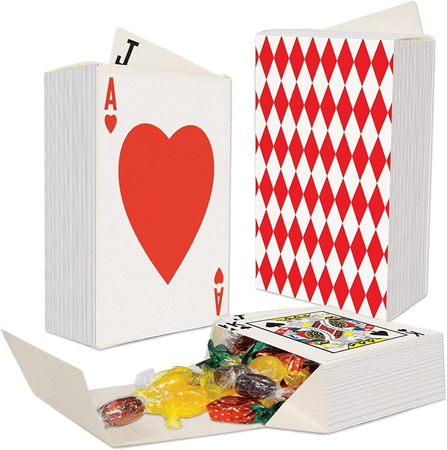 Party Central Club Pack of 36 ThreeDimensional Deck Of Playing Cards Favor Boxes 4