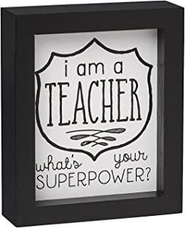 A Teacher Framed Box Sign Black