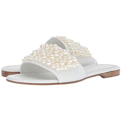 Kennel & Schmenger Elle Pearl Slide (White Calf/Pearls) Women