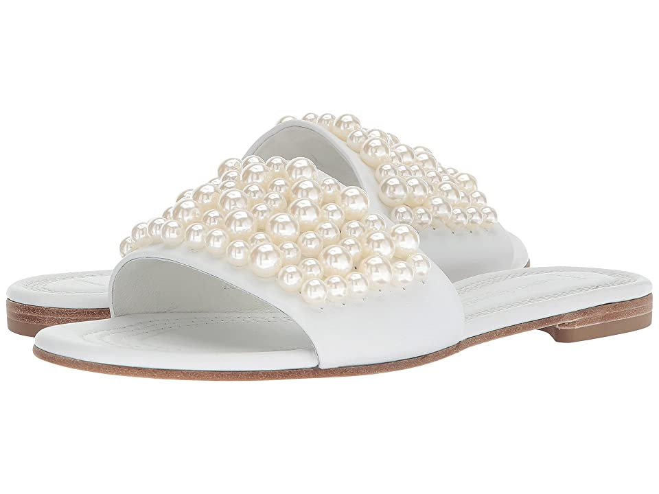 Kennel & Schmenger Elle Pearl Slide (White Calf/Pearls) Women