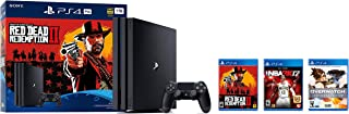 2018 Playstation 4 Pro 1TB console - Red Dead Redemption 2 + Overwatch Legendary Edition + NBA 2K17 Bundle ( 3 - Items )