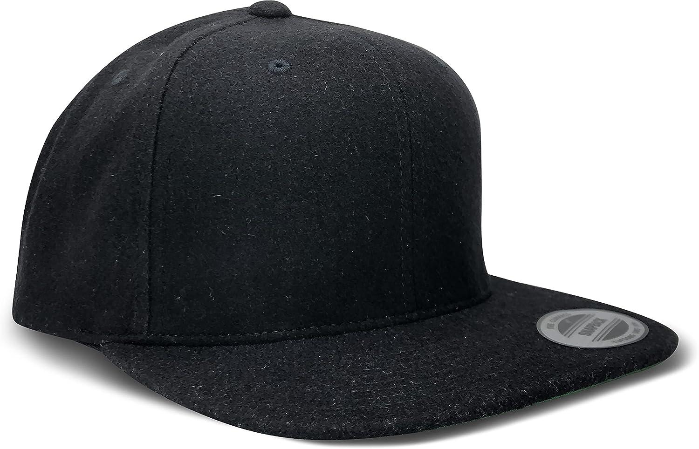 L2K Classics Melton Wool Snapback Cap Baseball Cap - Mens Hats Hats for Men