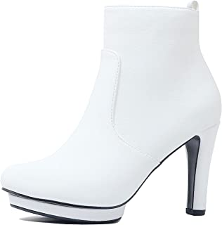 c77f7121b49 Guilty Heart Womens Stiletto Platform High Heel Sexy Party Ankle Bootie  Boots
