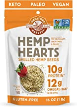 Manitoba Harvest Hemp Hearts Shelled Hemp Seeds, 16oz; 10g Plant-Based Protein & 12g Omegas per Serving, Whole 30 Approved...